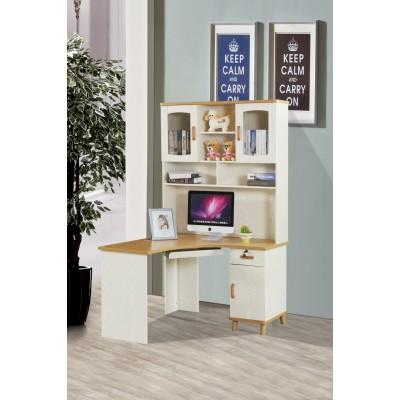 学习电脑桌台式家用 学生桌书架组合 北欧小户型烤漆转角书桌