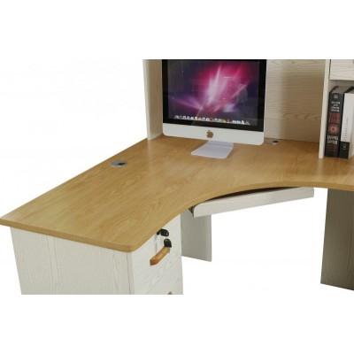 电脑桌带书架 台式家用简约现代书桌 书桌书架组合写字桌子
