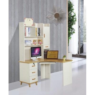 北欧电脑桌台式家用带书架书柜组合书桌学习桌写字台