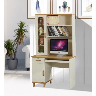 白色写字台宜家笔记本电脑桌台式家用简约书柜书桌子书架简易组合