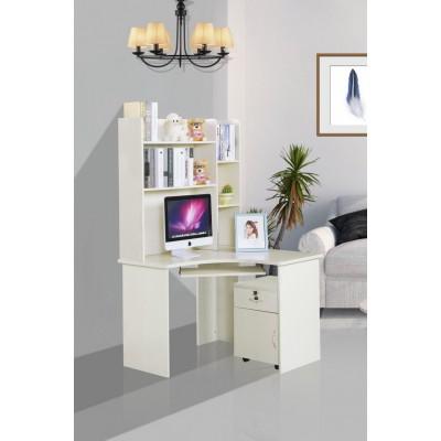 电脑桌台式桌 家用 写字台书柜组合 办公桌子书架电脑台式桌