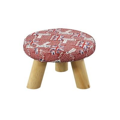 实木布艺小圆凳创意时尚茶几凳家用成人洗衣凳门口换鞋凳小板凳