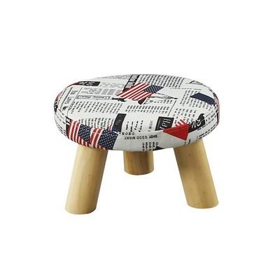 实木矮凳客厅圆凳创意沙发凳宿舍学生小板凳布艺方凳子家用换鞋凳