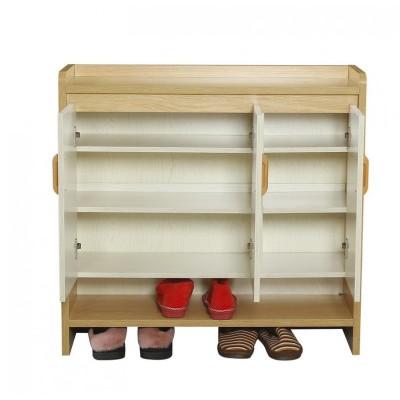 实木鞋柜北欧烤漆大容量对开门三门简约现代门厅柜超薄多层储物柜