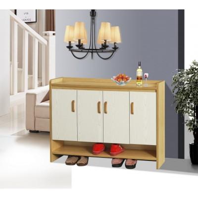 北欧门口鞋柜实木简约现代玄关门厅柜经济型客厅对开门组装