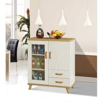 北欧餐边柜实木 橱柜现代简约酒柜隔断柜多用储物茶水柜
