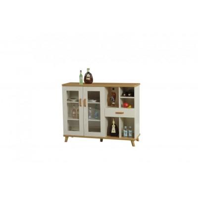 北欧式纯全实木迷你小型酒柜家用餐厅隔断柜餐边柜展示柜酒架酒柜