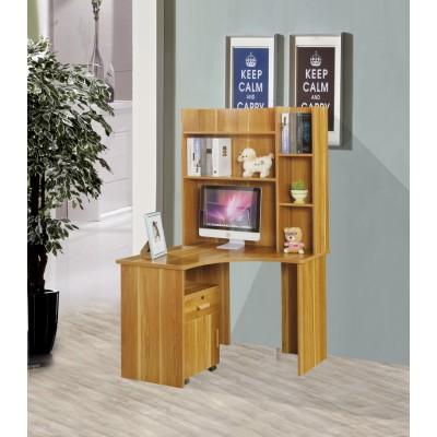 转角电脑桌 台式家用经济型书桌带书架组合办公桌儿童学习桌书柜