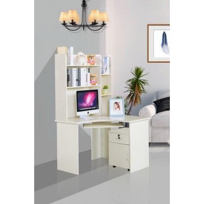 电脑化妆一体桌台式办公桌梳妆台家用书桌带书架组合简易多功能桌