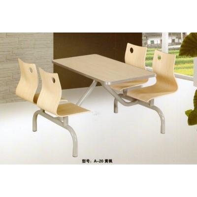 肯德基餐桌椅 快餐餐桌员工食堂餐桌椅 学生食堂餐桌 君发家具