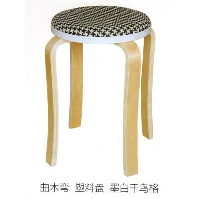 圆凳子时尚创意实木客厅小椅子家用简约现代布艺餐桌鑫宝登业