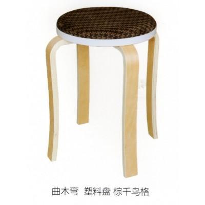 凳子时尚创意餐桌凳实木小椅子客厅布艺板凳成人家用圆凳鑫宝登业