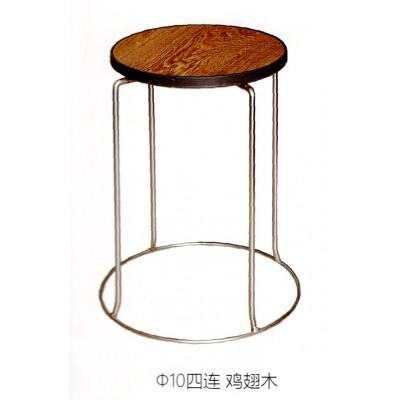 不锈钢圆凳子家用实木铁板凳成人餐桌凳时尚创意小圆凳鑫宝登业