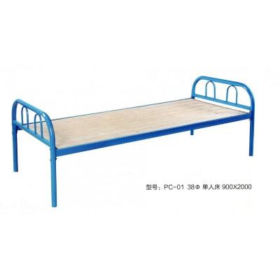员工铁床学生宿舍铁架床公寓床职工铁架床单层铁床成人床鹏程床业