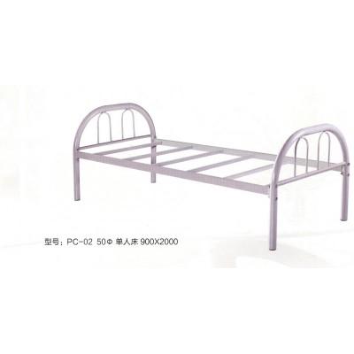 环保金属铁艺床现代简约铁艺床单人床加固结实金属床鹏程床业