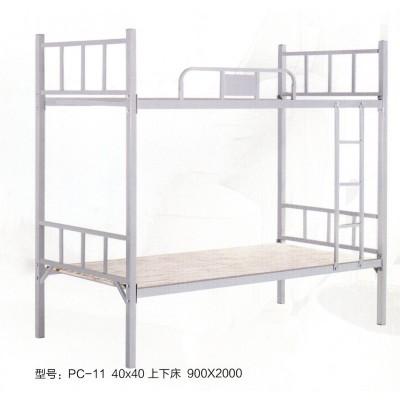 高低铁艺床双层成人上下铺工地铁架床鹏程床业