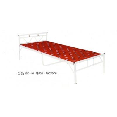 折叠床板式床成人四折床 铁床行军床午休床 便携式宿舍床鹏程床