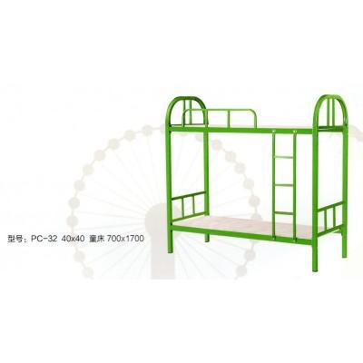 双层上下铺铁架床员工床成人铁床学生宿舍床工地高低床鹏程床业