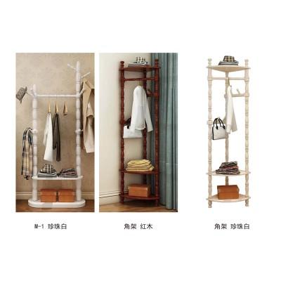多功能实木衣帽架卧室转角单杆挂衣架儿童衣服挂架衣架子创意落地