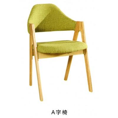 环保实木椅子靠背餐椅凳子成人家用北欧书桌椅时尚餐厅椅博超木业