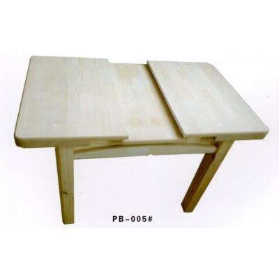 实木餐桌白橡木可伸缩餐桌可伸缩长方桌小户型简约伸缩桌澎渤木业