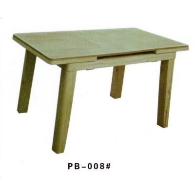简约餐桌伸缩时尚简约家用吃饭桌子纯实木餐台澎渤木业