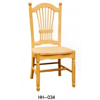 美式实木餐桌餐椅白坯小美餐椅子白茬实木橡胶木餐椅海汇木业