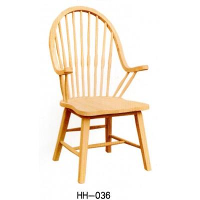 美式实木家用电脑孔雀转椅地中海餐厅温莎靠背椅凳子橡木海汇木业