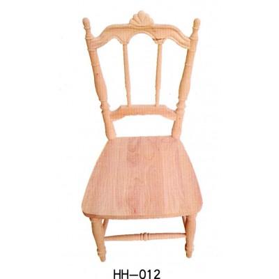 美式简约休闲橡胶木酒店家庭办公靠背椅小美餐椅白坯海汇木业