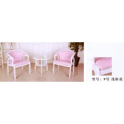 欧式阳台椅布艺圈椅三件套卧室休闲实木桌咖啡宾馆桌椅卫戍家具