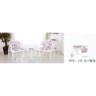 田园休闲阳台圆茶几椅子三件套组合欧式简约接待会客卫戍家具