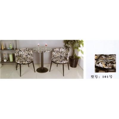 阳台休闲桌椅三件套北欧家庭小茶机休息桌椅靠背露天卫戍家具