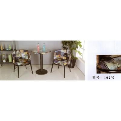 小圆桌椅组合三件套茶几简约休闲接待洽谈桌咖啡桌玻璃卫戍家具
