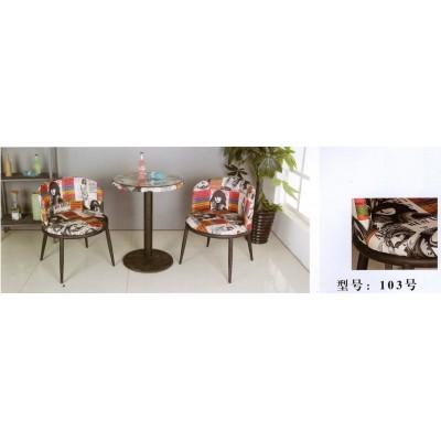 咖啡椅阳台桌椅现代简约休闲卧室桌椅三件套户外室外卫戍家具