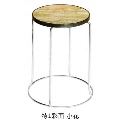 铁艺餐凳皮革款式圆角防撞凳子创意餐椅简约铁脚凳钢筋凳