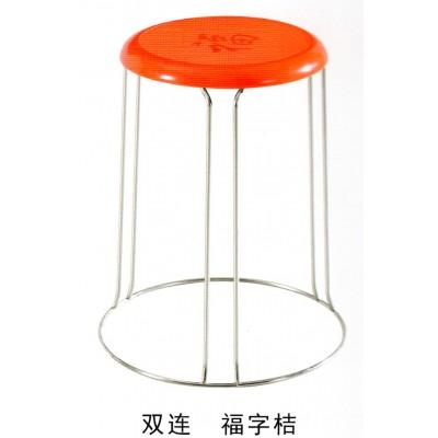 塑料圆凳子加粗方凳铁凳子塑料小板凳折叠餐凳子家用简易钢筋凳圆