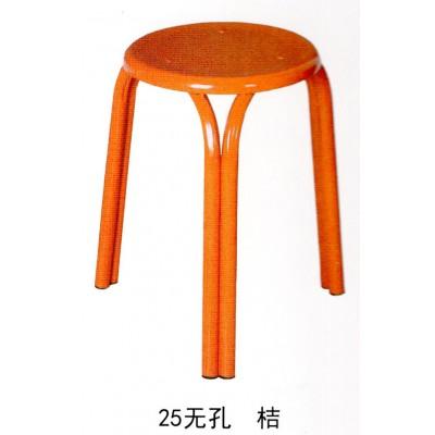 加厚金属钢管圆凳子三脚家用成人塑料椅子简易烧烤桌凳