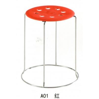 钢筋凳折叠圆凳简约加粗八孔铁凳子小板凳餐凳家用不锈钢圆凳矮凳