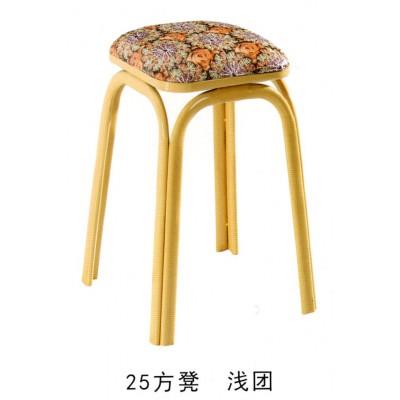 钢管加厚餐凳印花皮革圆角防撞凳子创意餐椅简约铁脚圆凳海林家具