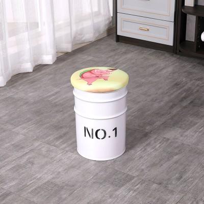 油桶凳子创意油桶吧凳铁艺铁桶铁艺桶凳圆桶储物凳餐凳 林诚桶凳